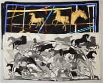 2 Hermes Silk Scarves Incl Ex Libris En Camo