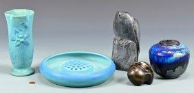 4 Art Pottery Items & 2 Bird Figurals