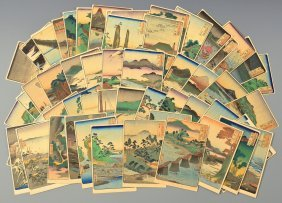 Collection Japanese Woodblock Postcards, 53 Stations