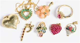 Group Gold Stone Jewelry