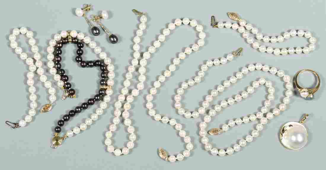 Group of 14K Pearl Jewelry