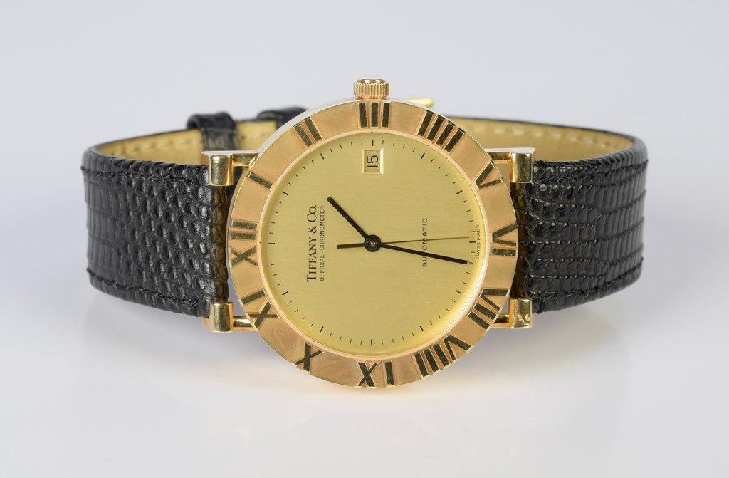 Gents 18K Tiffany Atlas Watch