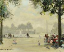 Jules Rene Herve O/C, Tuileries Fountain