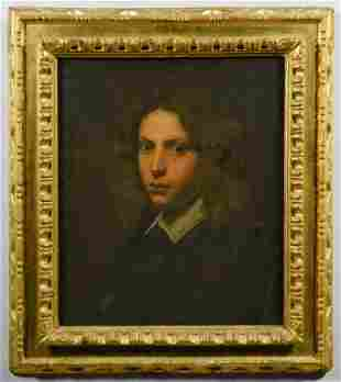 Continental School Portrait of Young Man, 17th/18th C.
