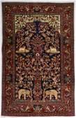 "Vintage Persian Kashan Meditation Rug, 4'6"" x 7'1"""