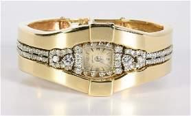 Diamond Hamilton Watch, 14K Jacket, 97 g