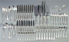 Towle King Richard Sterling Flatware 60 pcs