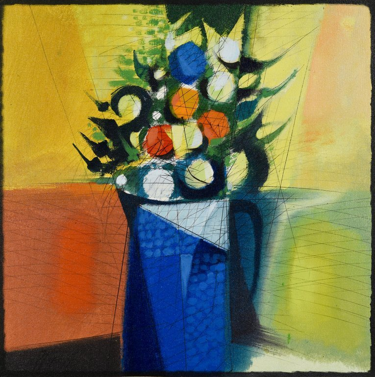 Oil on Canvas Floral Still Life, Paul Maxwell