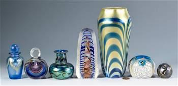 7 pcs. Contemporary Art Glass, Incl. Lotton & Lundberg