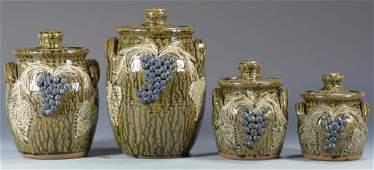 Georgia Folk Pottery Canister Set Meaders