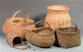 5 Appalachian Split Oak Baskets