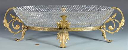 Bronze Mounted Crystal Centerpiece Bowl
