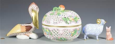 4 Pcs. Herend Porcelain