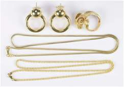 4 Items of 18K Gold Jewelry Incl Rams Head Ring