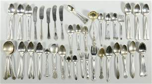 Assorted Sterling Silver Flatware 52 pcs