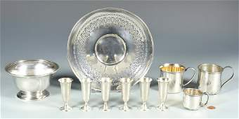 11 pcs Sterling Silver Table Holloware