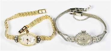 2 Ladies 14K Diamond Watches