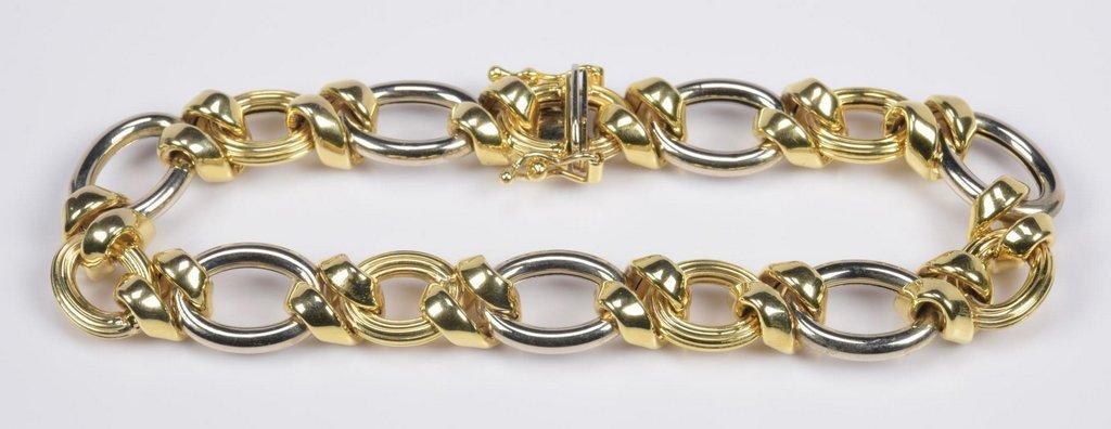 14K Bi-Color Italian Bracelet