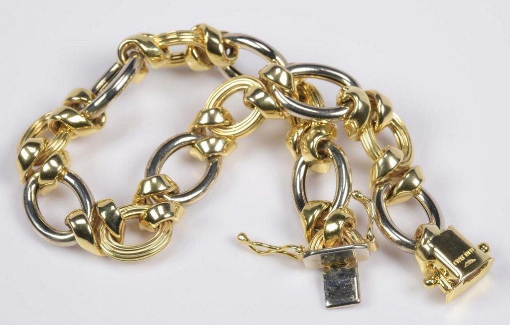 14K Bi-Color Italian Bracelet - 2