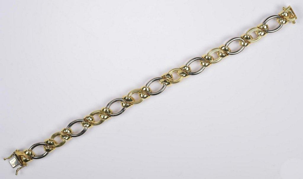 14K Bi-Color Italian Bracelet - 3