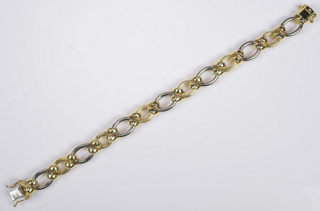 14K Bi-Color Italian Bracelet - 4