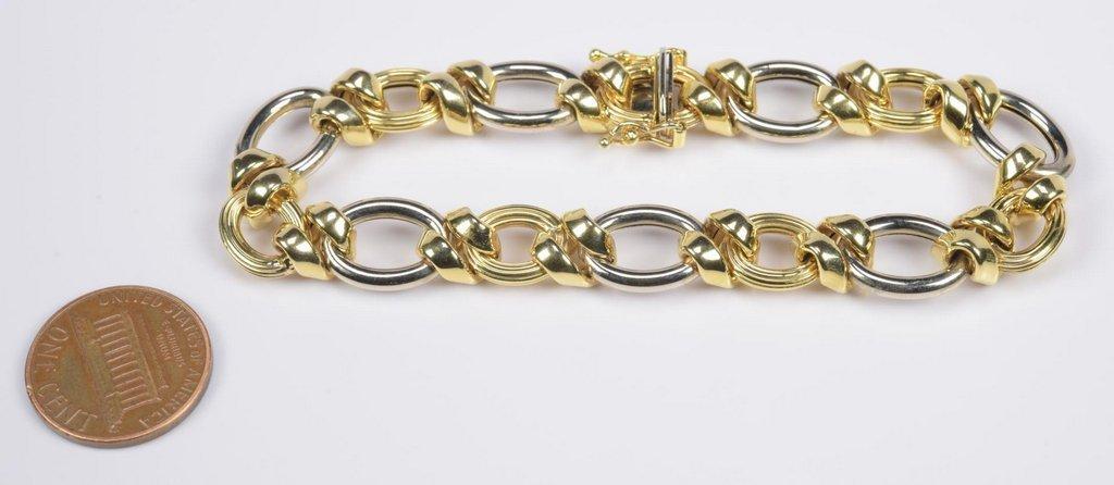 14K Bi-Color Italian Bracelet - 5