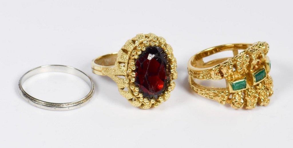 Three 18K Ladies Rings