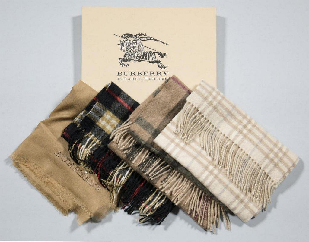 4 Burberry Scarves