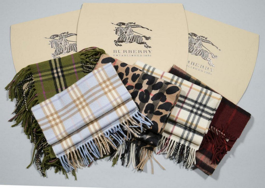 5 Burberry Scarves