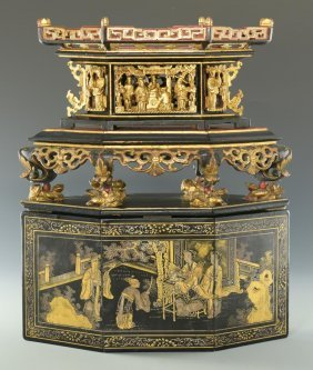 Chinese Lacquer Tableau