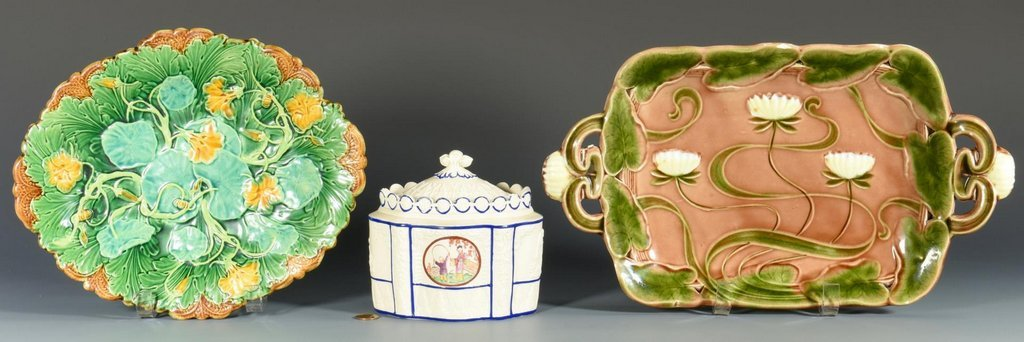 European Pottery incl majolica