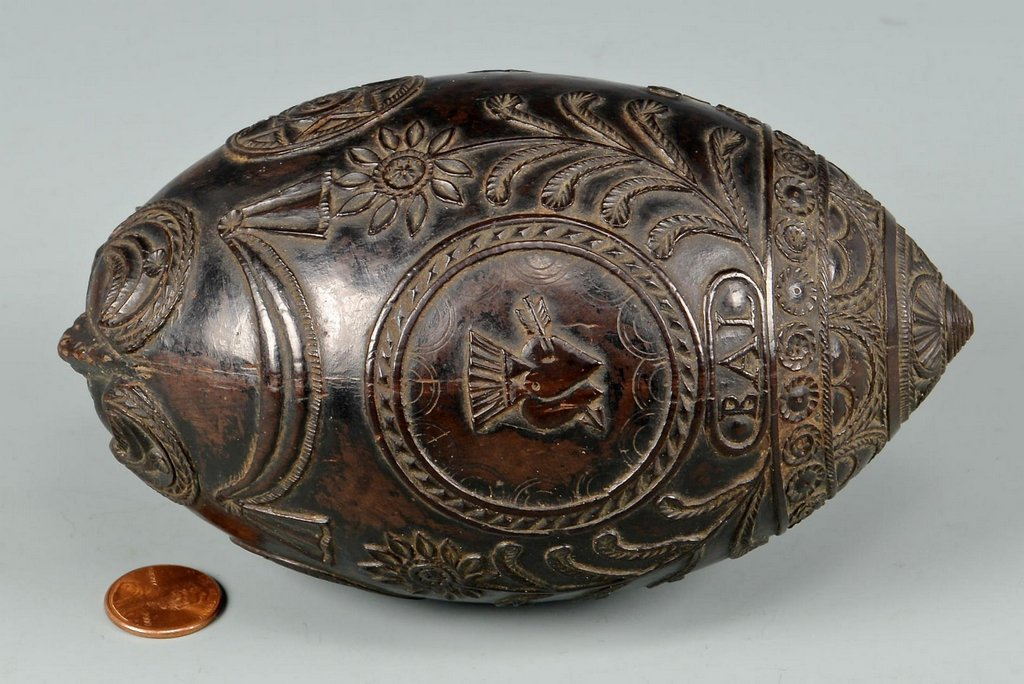 19th Century Carved Coconut Shell