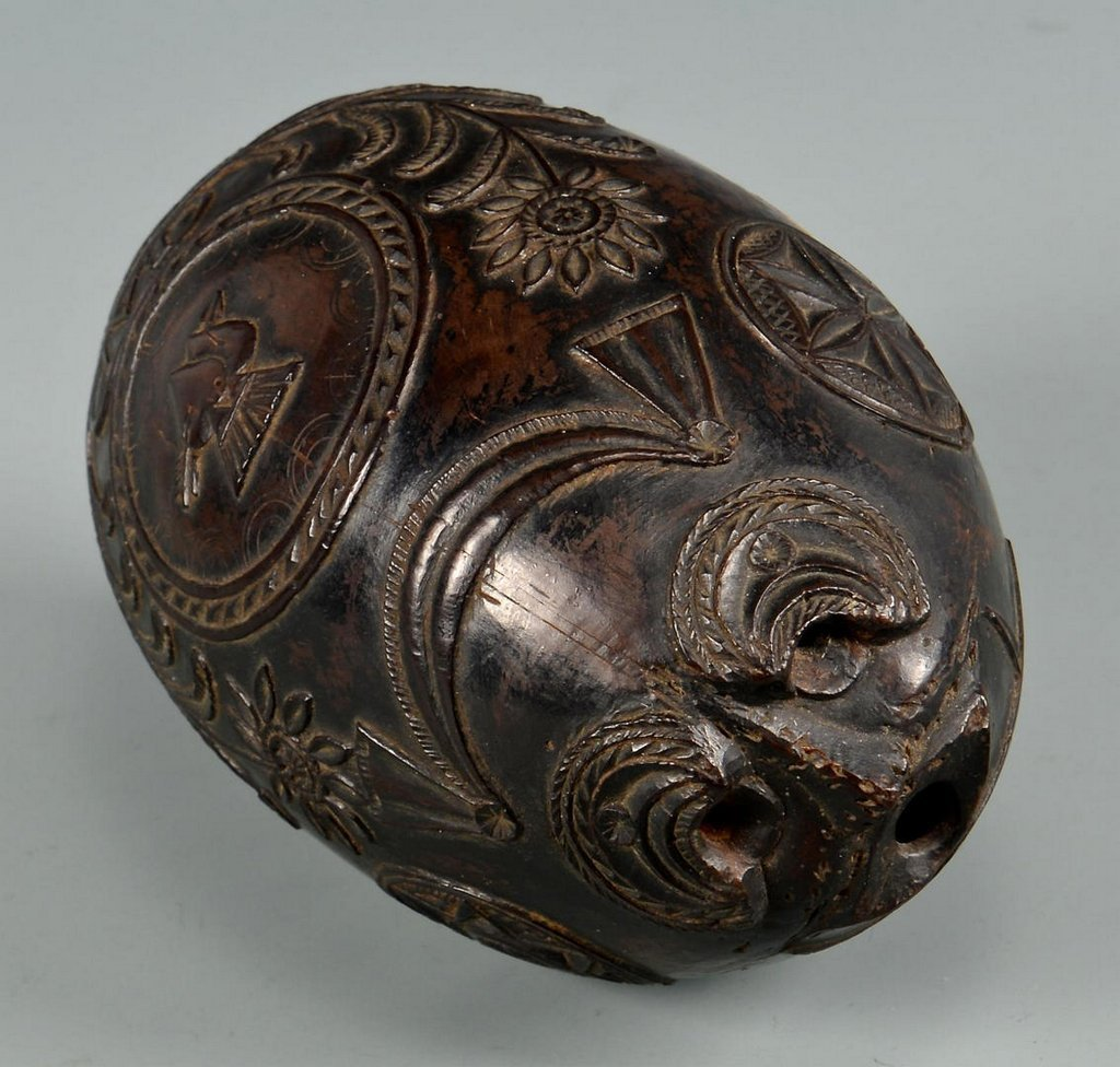 19th Century Carved Coconut Shell - 8