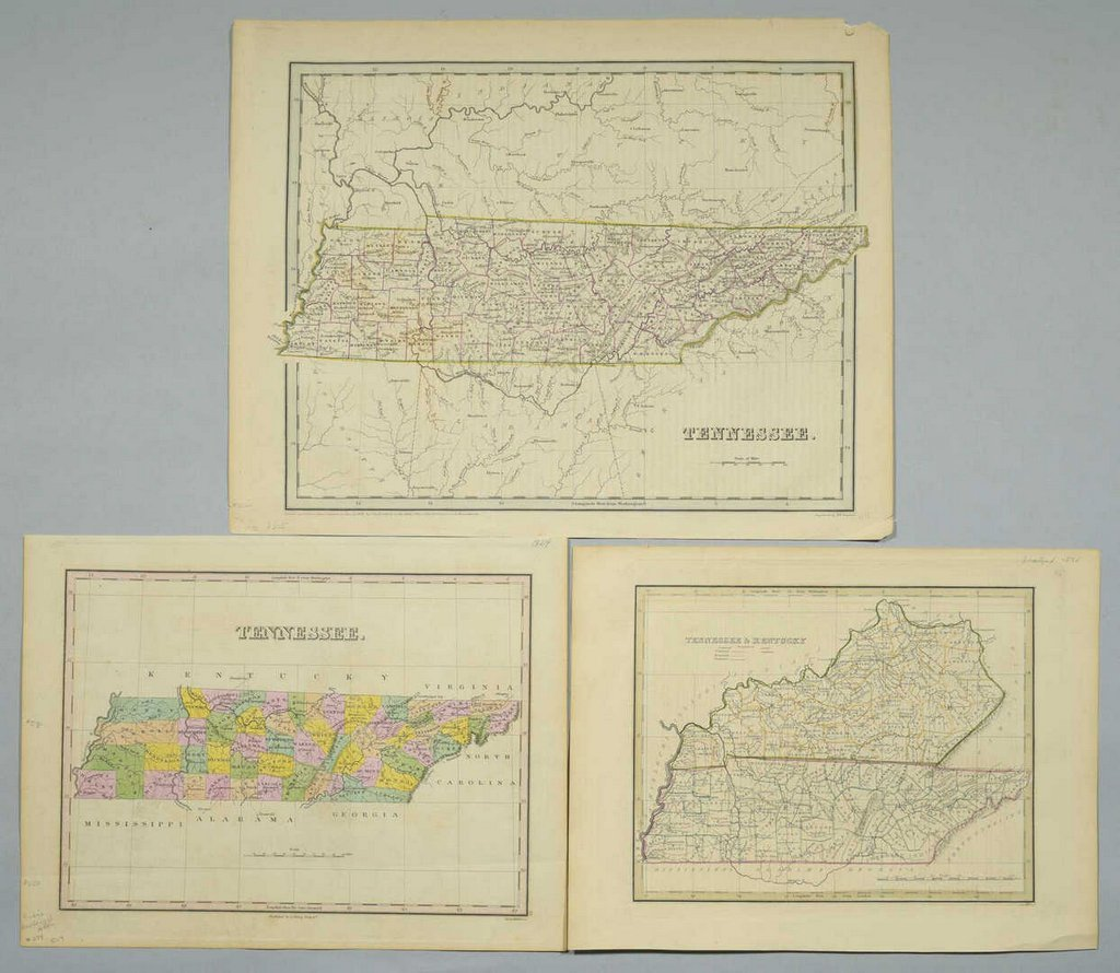 3 19th cent. Maps, 1 of TN and KY, 2 of TN