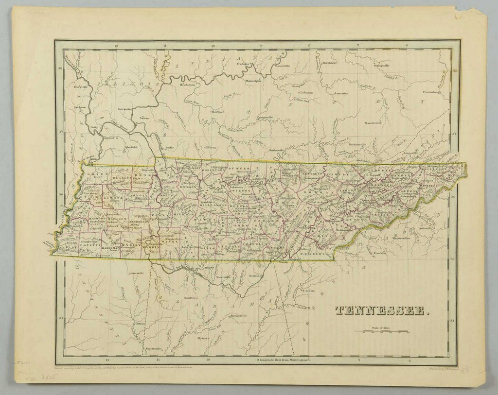 3 19th cent. Maps, 1 of TN and KY, 2 of TN - 4