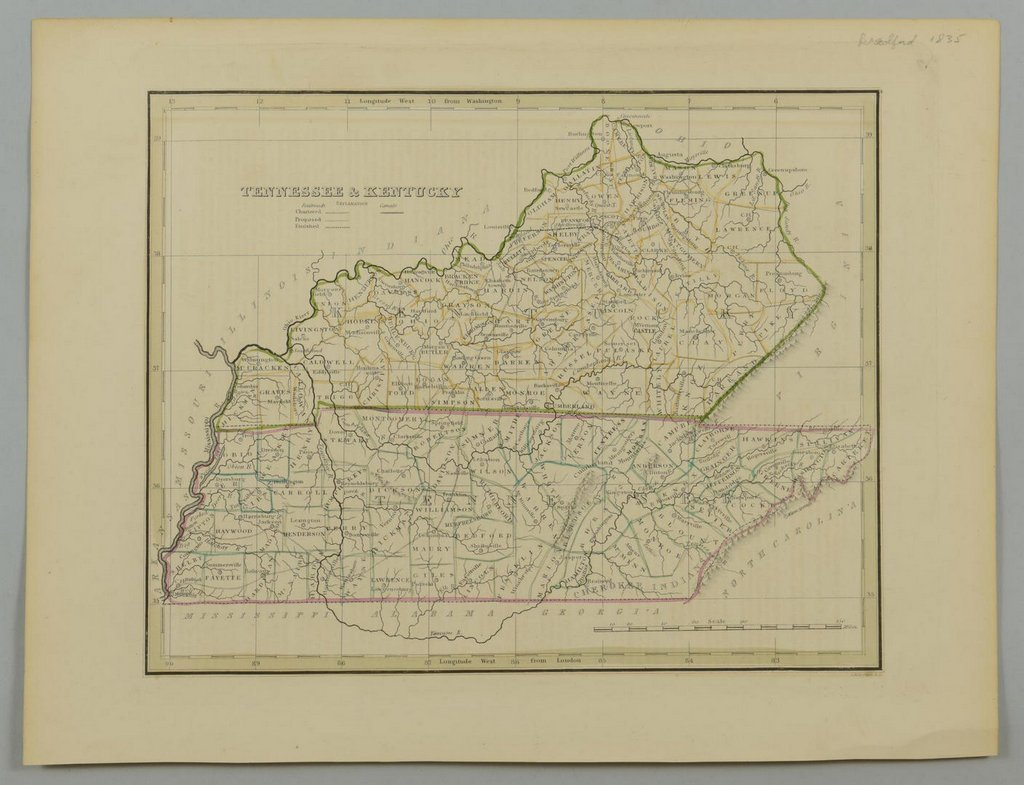 3 19th cent. Maps, 1 of TN and KY, 2 of TN - 5