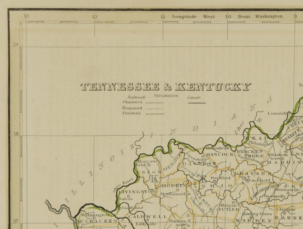 3 19th cent. Maps, 1 of TN and KY, 2 of TN - 6