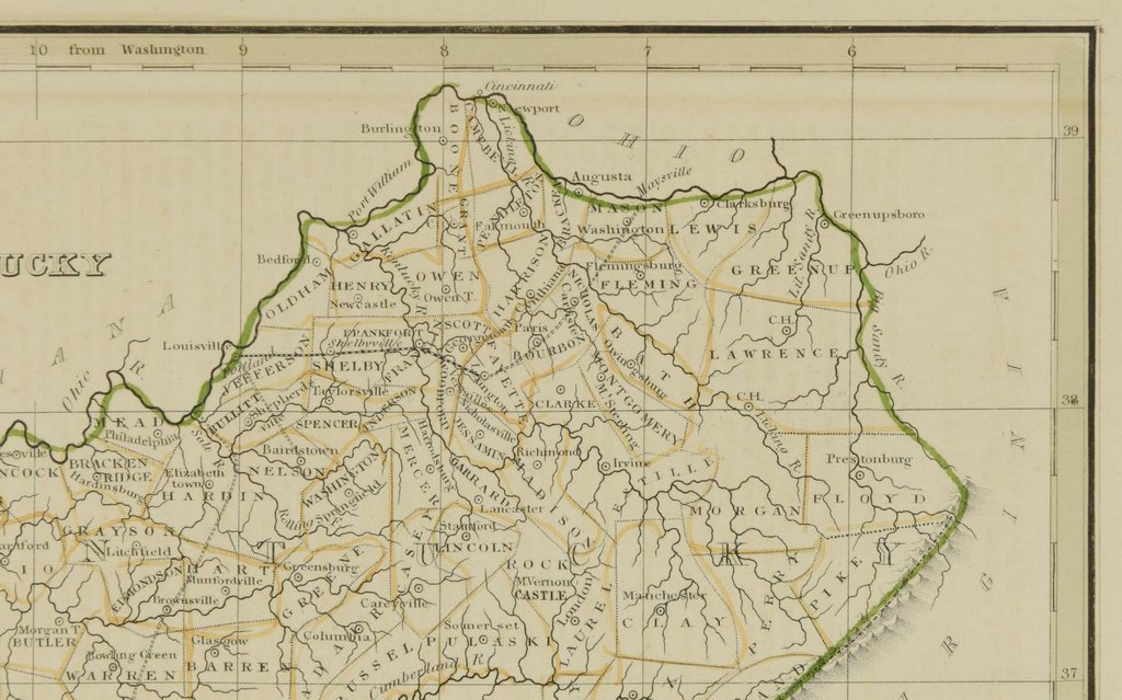 3 19th cent. Maps, 1 of TN and KY, 2 of TN - 7