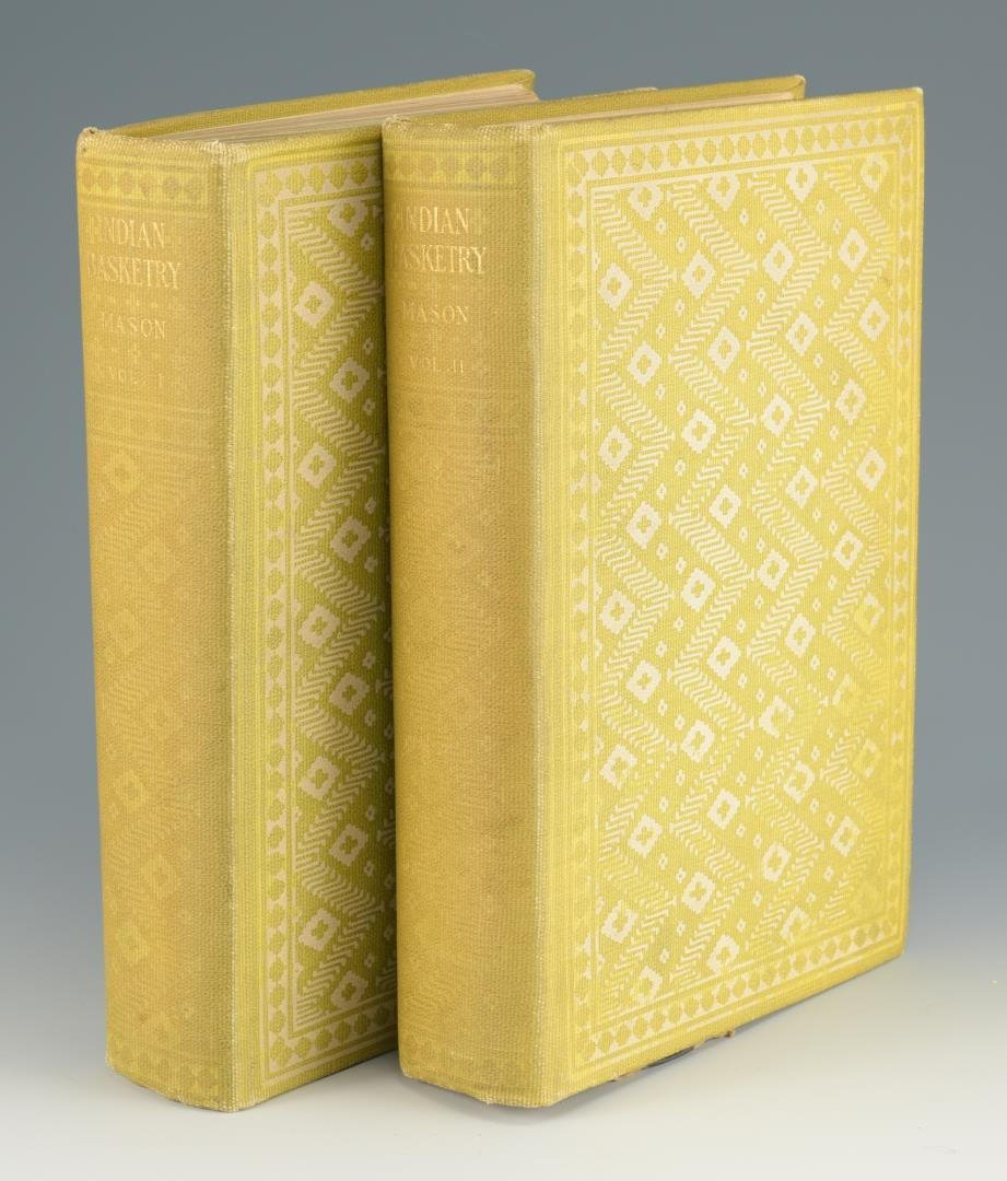 Mason. Indian Basketry (2 volumes),  First Edition; - 2