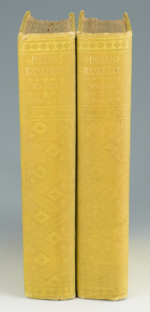 Mason. Indian Basketry (2 volumes),  First Edition; - 3