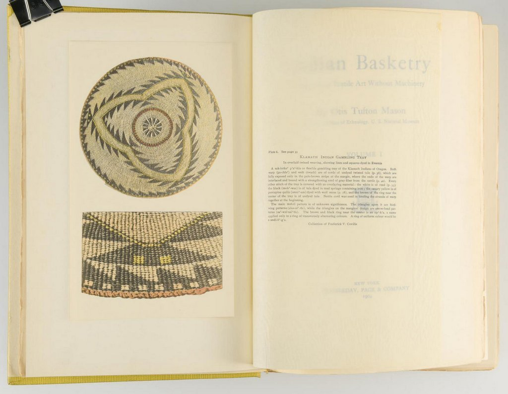 Mason. Indian Basketry (2 volumes),  First Edition; - 5