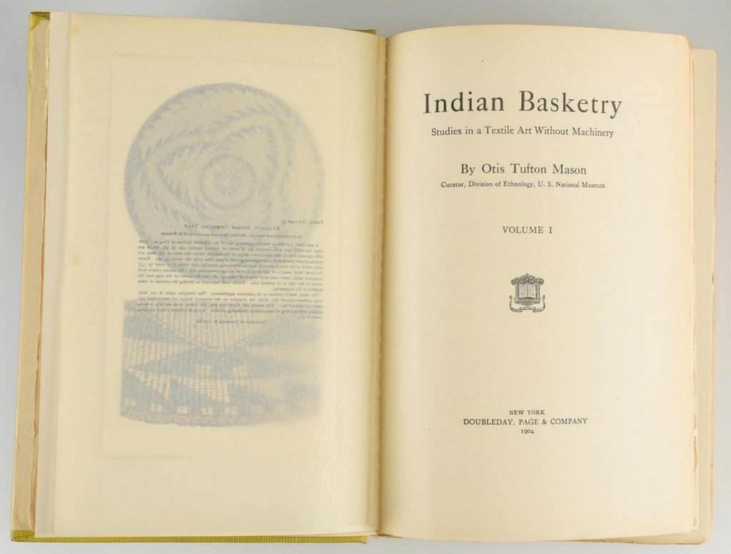 Mason. Indian Basketry (2 volumes),  First Edition; - 6