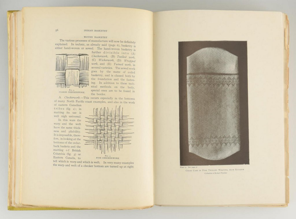 Mason. Indian Basketry (2 volumes),  First Edition; - 7