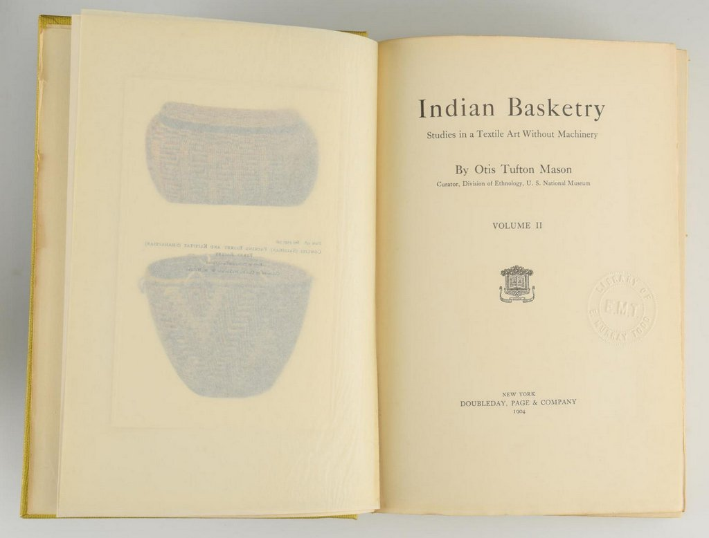 Mason. Indian Basketry (2 volumes),  First Edition; - 8