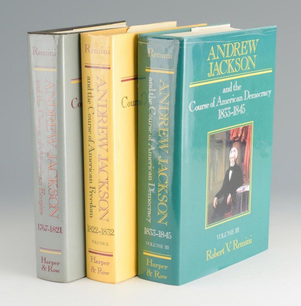 Remini, Andrew Jackson Bio 3 vols, Signed