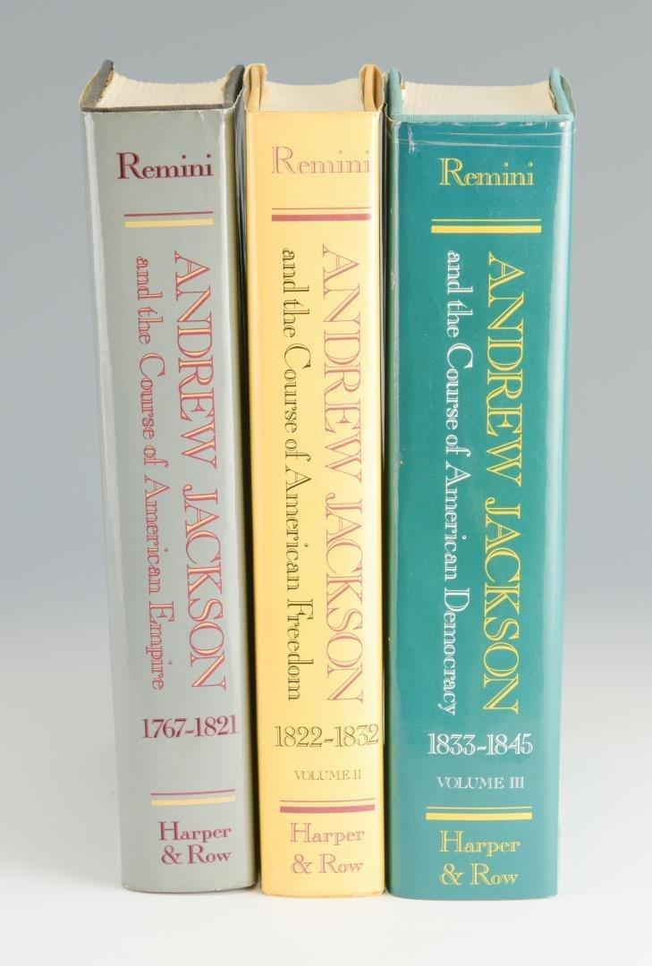 Remini, Andrew Jackson Bio 3 vols, Signed - 2