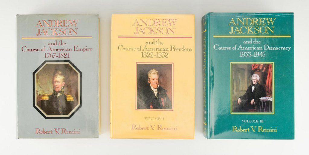 Remini, Andrew Jackson Bio 3 vols, Signed - 3