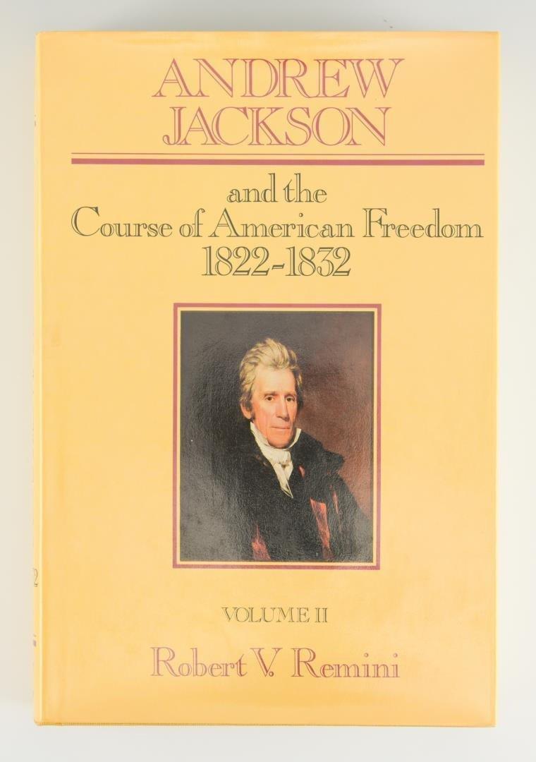 Remini, Andrew Jackson Bio 3 vols, Signed - 4
