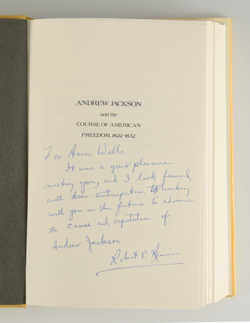 Remini, Andrew Jackson Bio 3 vols, Signed - 5