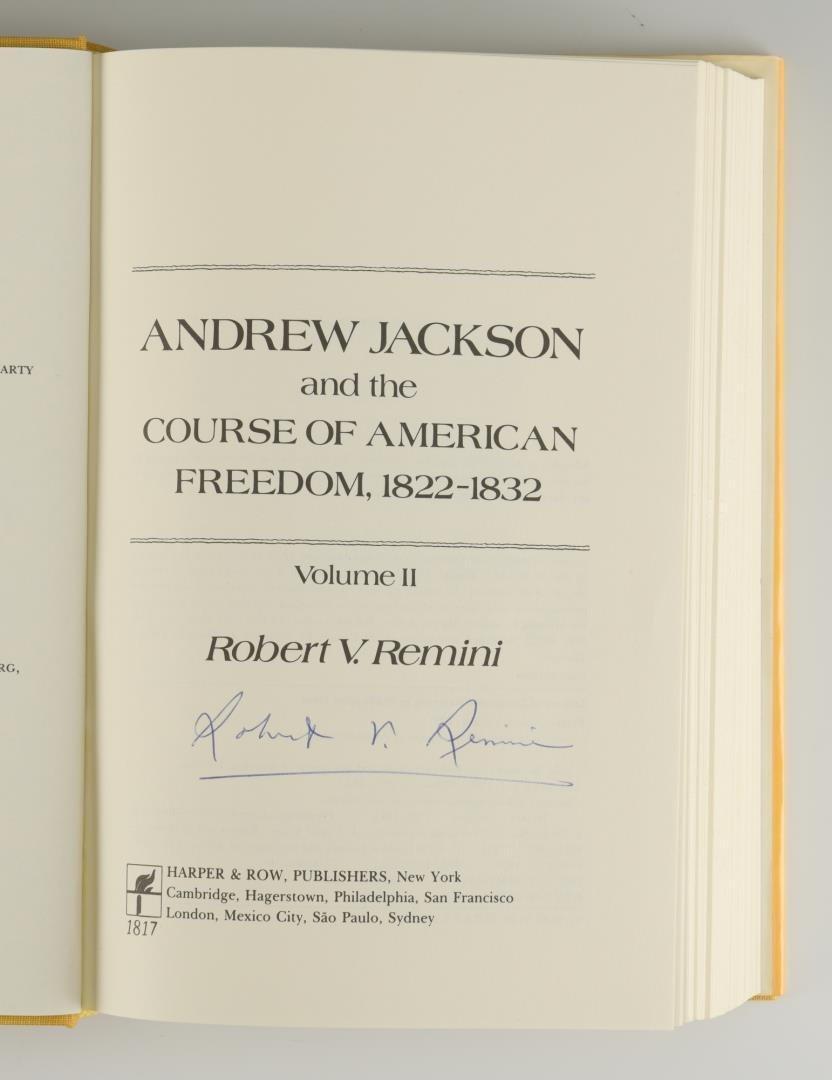 Remini, Andrew Jackson Bio 3 vols, Signed - 6
